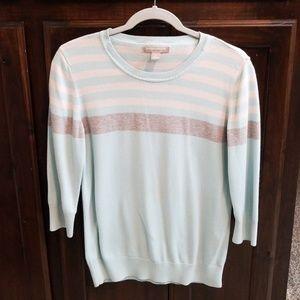 Baby blue 3/4 sleeve sweater